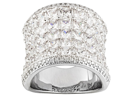 Photo of Bella Luce ® 8.35ctw Square And Round Rhodium Over Sterling Silver Ring - Size 5