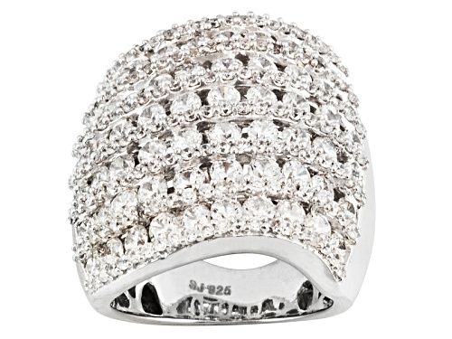 Photo of Bella Luce ® 7.05ctw Round, Rhodium Over Sterling Silver Ring - Size 5
