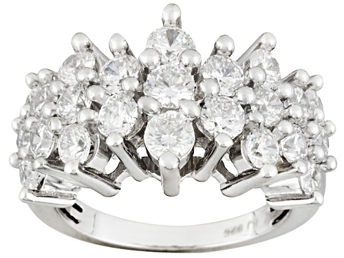 Photo of Bella Luce ® 4.55ctw Round Rhodium Over Sterling Silver Ring (2.65ctw Dew) - Size 11
