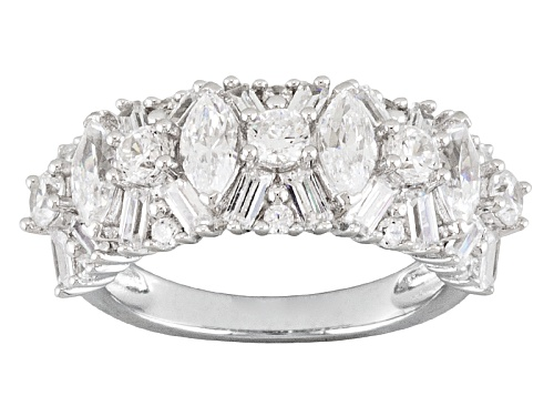 Photo of Bella Luce ® 4.25ctw Marquise, Baguette And Round Rhodium Plated Sterling Silver Ring - Size 6