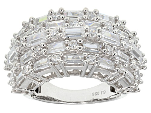 Photo of Bella Luce ® 3.84ctw Baguette And Round Rhodium Over Sterling Silver Ring - Size 6