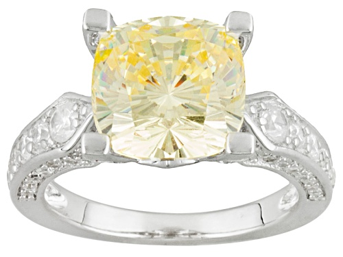 Photo of Bella Luce ® 9.29ctw Yellow & White Diamond Simulant Rhodium Over Sterling Silver Ring - Size 8