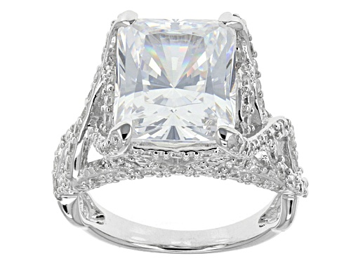 Photo of Bella Luce ® 13.90ctw Amkor Cut & Round Rhodium Over Sterling Silver Ring - Size 12