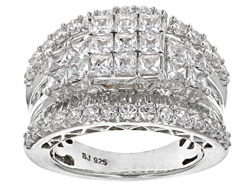 Photo of Bella Luce ® 6.45ctw Princess Cut, Baguette And Round Platineve® Ring - Size 11
