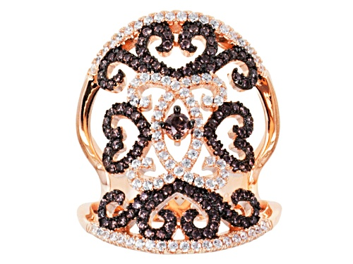 Photo of Bella Luce ® 2.08ctw Mocha & White Diamond Simulant Round Eterno ™ Rose Ring - Size 5