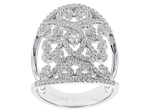 Photo of Bella Luce ® 2.08ctw Round Rhodium Over Sterling Silver Ring - Size 5