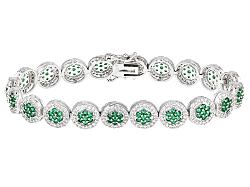 Photo of Bella Luce ® 11.21ctw Emerald And White Diamond Simulants Rhodium Over Silver Tennis Bracelet - Size 8