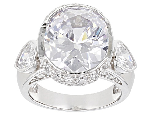 Photo of Bella Luce ® 15.87ctw Rhodium Over Sterling Silver Ring (10.20ctw DEW) - Size 10