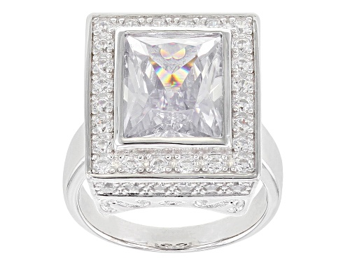 Photo of Bella Luce ® 11.02ctw Rhodium Over Sterling Silver Ring (6.84ctw DEW) - Size 8