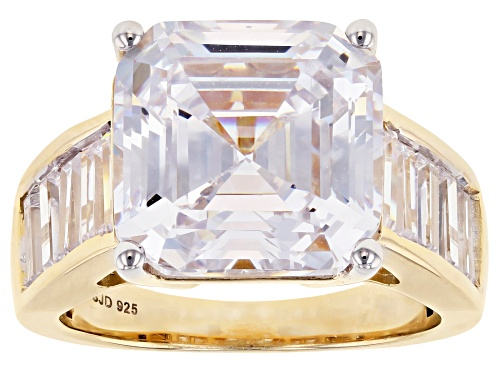Photo of Bella Luce ® 15.67ctw Asscher Cut Eterno ™ Yellow Ring (11.42ctw DEW) - Size 6