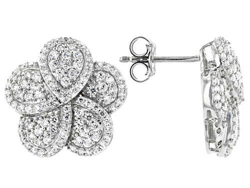 Photo of Bella Luce ® 2.50ctw Rhodium Over Sterling Silver Flower Stud Earrings (1.22ctw DEW)