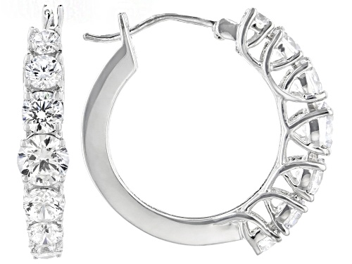 Photo of Bella Luce ® 5.48ctw Rhodium Over Sterling Silver Hoop Earrings (3.04ctw DEW)