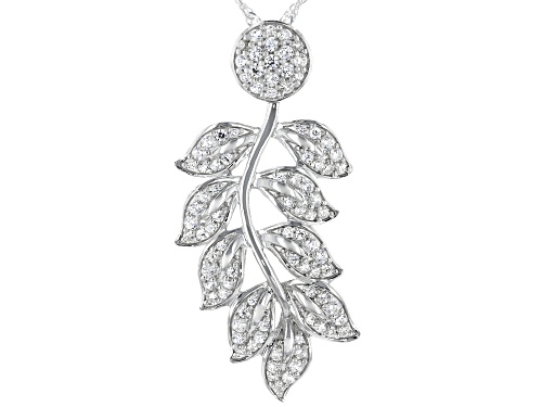 Photo of Bella Luce ® 1.73ctw Rhodium Over Sterling Silver Leaf Pendant With Chain (0.85ctw DEW)