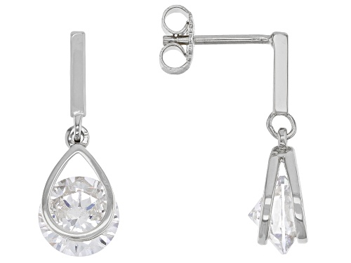 Photo of Bella Luce ® 6.56ctw Rhodium Over Sterling Silver Earrings (4.08ctw DEW)