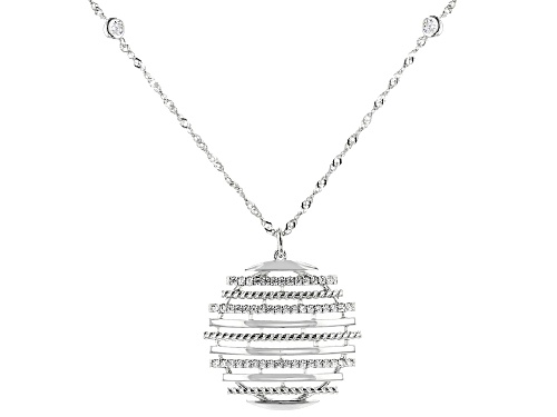 Photo of Bella Luce ® 1.03ctw Rhodium Over Sterling Silver Necklace (0.56ctw DEW) - Size 18