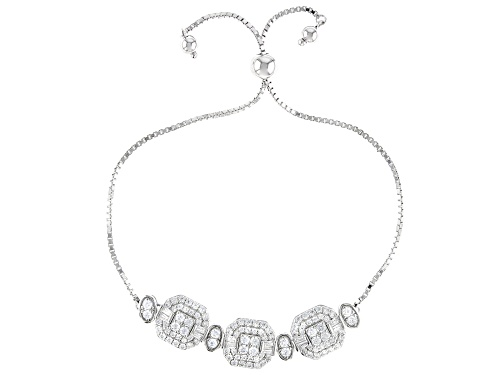 Photo of Bella Luce ® 3.92ctw Rhodium Over Sterling Silver Adjustable Bracelet (2.10ctw DEW)