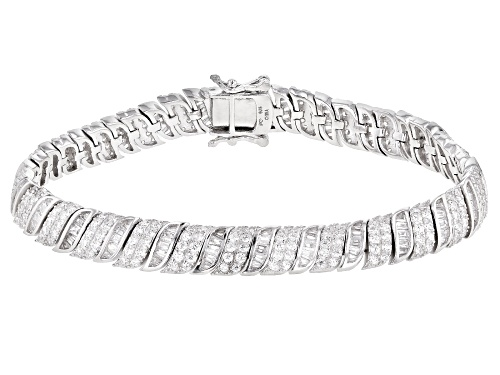 Photo of Bella Luce ® 9.53ctw White Diamond Simulant Rhodium Over Silver Tennis Bracelet (4.32ctw DEW) - Size 8.25