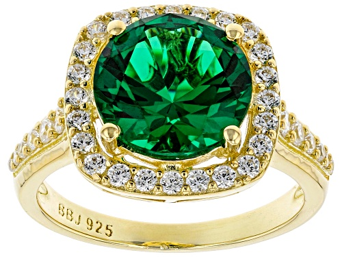 Photo of Bella Luce ® 4.06ctw Emerald and White Diamond Simulants Eterno™ Yellow Ring (2.30ctw DEW) - Size 7