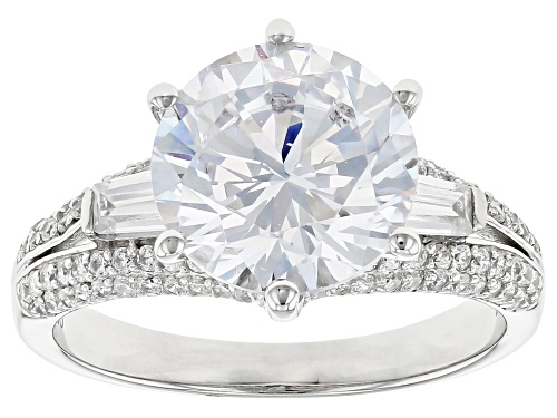 Photo of Bella Luce ® 8.35ctw Rhodium Over Sterling Silver Ring (4.74ctw DEW) - Size 10