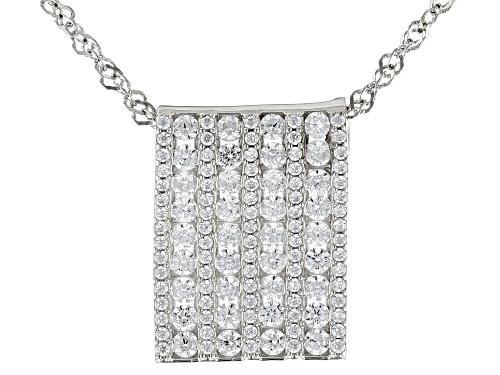 Photo of Bella Luce ® 2.36ctw Rhodium Over Sterling Silver Pendant With Chain (1.48ctw DEW)
