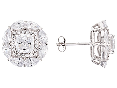 Photo of Bella Luce ® 7.98ctw Rhodium Over Sterling Silver Earrings (5.88ctw DEW)