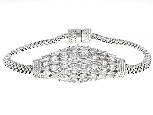 Photo of Bella Luce ® 8.45ctw White Diamond Simulant Rhodium Over Sterling Silver Bracelet (5.64ctw DEW) - Size 8