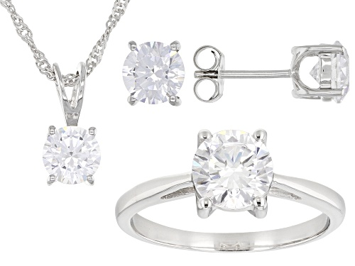 Photo of Bella Luce ® 9.40ctw Platinum Over Sterling Ring, Earrings, and Pendant With Chain Set(5.12ctw DEW)
