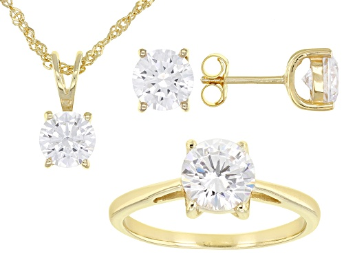 Photo of Bella Luce ® 9.40ctw Eterno ™ Yellow Ring, Earrings, and Pendant With Chain Set (5.12ctw DEW)