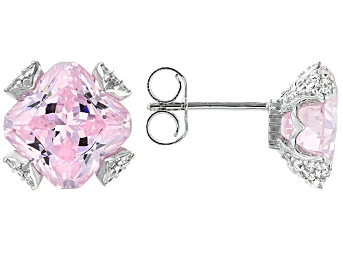 Photo of Bella Luce ® 13.96ctw Pink And White Diamond Simulants Rhodium Over Sterling Earrings (6.14ctw DEW)