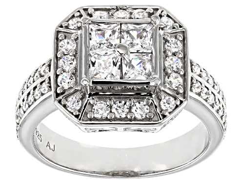 Photo of Bella Luce ® 1.82ctw Platinum Over Sterling Silver Ring - Size 11