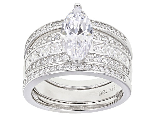 Photo of Bella Luce ® 4.26ctw Rhodium Over Sterling Silver Ring With 2 Bands (2.97ctw DEW) - Size 10