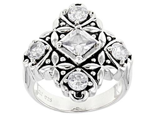 Photo of Bella Luce ® 2.86ctw Rhodium Over Sterling Silver Ring (1.71ctw DEW) - Size 7