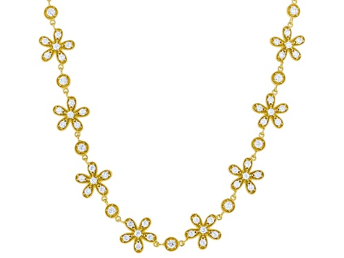 Photo of Bella Luce ® 14.31ctw Eterno ™ Yellow Flower Necklace (6.32ctw DEW) - Size 18