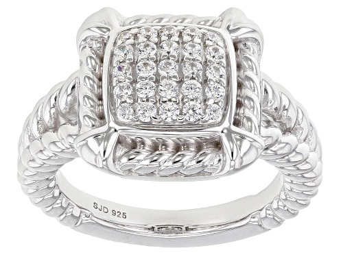 Photo of Bella Luce ® 0.65ctw Rhodium Over Sterling Silver Ring (0.34ctw DEW) - Size 8
