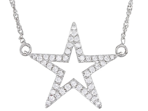 Photo of Bella Luce ® 1.11ctw Rhodium Over Sterling Silver Star Necklace  (0.45ctw DEW) - Size 18