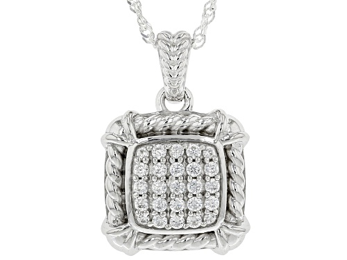 Photo of Bella Luce ® 0.67ctw Rhodium Over Sterling Silver Pendant With Chain (0.34ctw DEW)