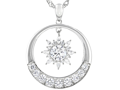 Photo of Bella Luce ® 3.41ctw Rhodium Over Sterling Silver Pendant With Chain (1.76ctw DEW)
