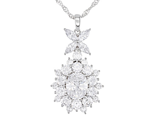 Photo of Bella Luce ® 12.55ctw Rhodium Over Sterling Silver Pendant With Chain (7.69ctw DEW)