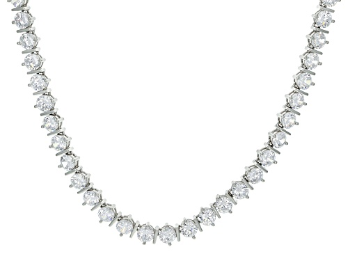 Photo of Bella Luce ® 63.70ctw White Diamond Simulant Rhodium Over Sterling Tennis Necklace (32.20ctw DEW) - Size 18