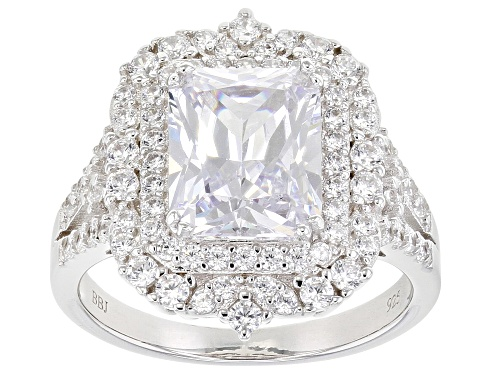 Photo of Bella Luce ® 6.74ctw Rhodium Over Sterling Silver Ring (4.79ctw DEW) - Size 8
