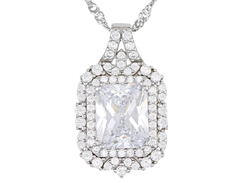 Photo of Bella Luce ® 6.39ctw Rhodium Over Sterling Silver Pendant With Chain (4.60ctw DEW)