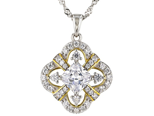 Photo of Bella Luce ® 3.98ctw Rhodium Over Sterling Silver Pendant With Chain (2.66ctw DEW)