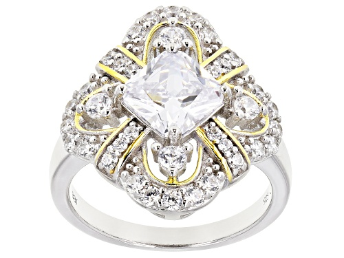 Photo of Bella Luce ® 3.98ctw Rhodium Over Sterling Silver Ring (2.66ctw DEW) - Size 7