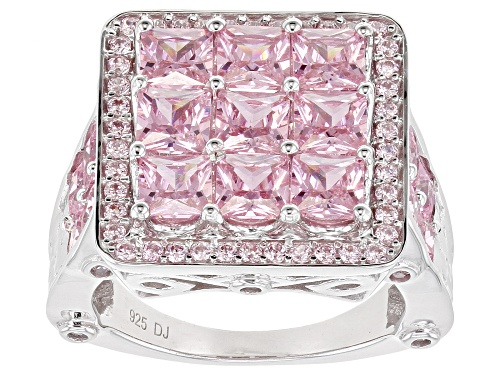 Photo of Bella Luce ® 7.93ctw Pink Diamond Simulant Rhodium Over Sterling Silver Ring (5.29ctw DEW) - Size 8