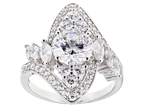Photo of Bella Luce ® 5.42ctw Rhodium Over Sterling Silver Ring (3.55ctw DEW) - Size 10