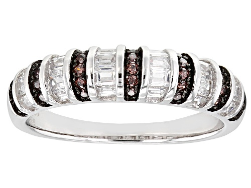 Photo of Bella Luce ® 1.33ctw Mocha And White Diamond Simulants Rhodium Over Silver Ring (0.54ctw DEW) - Size 7