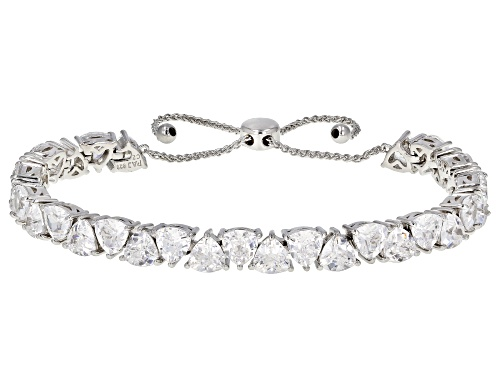 Photo of Bella Luce ® 21.62ctw Rhodium Over Sterling Silver Adjustable Bracelet (13.02ctw DEW)
