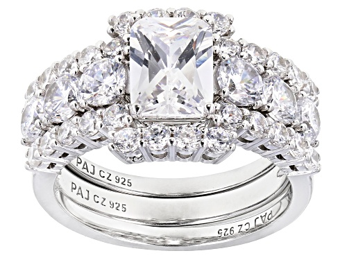 Photo of Bella Luce ® 6.08ctw Rhodium Over Sterling Silver Ring with 2 Bands(3.76ctw DEW) - Size 7