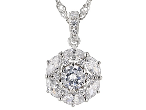 Photo of Bella Luce ® 2.49ctw Rhodium Over Sterling Silver Pendant With Chain (1.44ctw DEW)