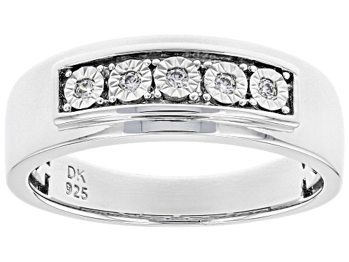 Photo of Bella Luce ® 0.15ctw Rhodium Over Sterling Silver Mens Ring (0.07ctw DEW) - Size 12